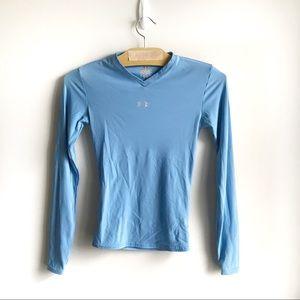Under Armour Heat Gear Blue Long Sleeve Shirt